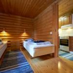 Kaikissa majoissa on kaksi makuuhuonetta.